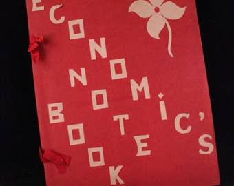 Vintage Homemade Economic's Notebook/Folder/Scrapbook