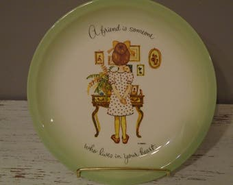 1972 Holly Hobbie Friends decorative porcelain plate, collector's edition, American Greeting Corp, made in USA