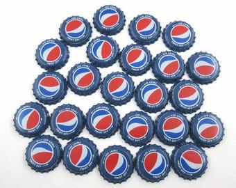 Vintage Blue Pepsi Cola Bottle Caps Set of 25