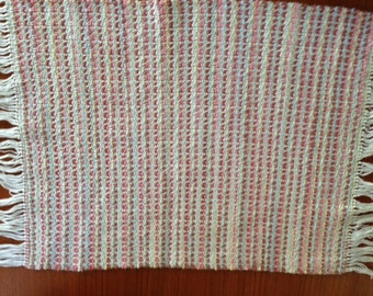 Handwoven placemats in Pink Dusk cotton, set of 4