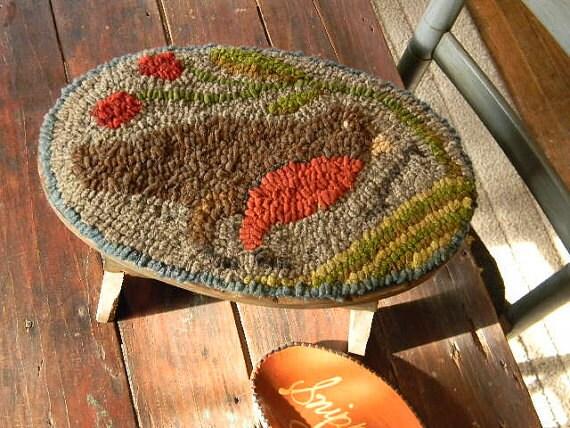 Early Bird rug hooking pattern - PDF - from Notforgotten Farm™