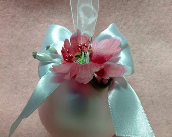 Handmade Beautiful Pink Glass Christmas Bulb