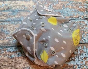 Newborn AI2 Cloth Diaper Natural Cotton Hello Sunshine Made to Order