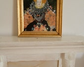 Queen Elizabeth 1st, Miniature painting, one 12th scale