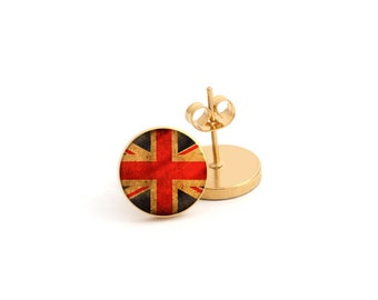 Flag Photo Earring Stud Earring Stainless Steel Earring (EP 525)
