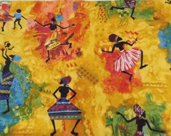 2.5 yds Cranston African Bohemian Women Cotton Quilting Fabric Sew Supply Crafts Julia Cairn 2003