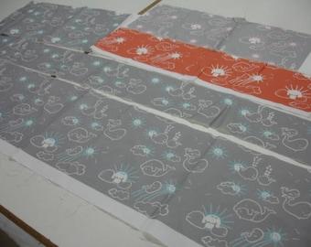 The KB Exquisites Whales Destash Fabric Bag