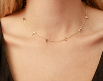 14k Gold Seed Necklace | Nature Inspired Necklace