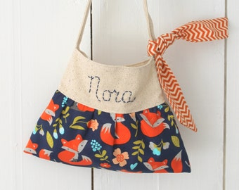 boho little girls purse woodland fox animals handbag girls Christmas gift
