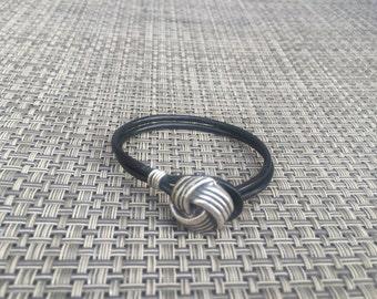 Now on Sale - Leather Knot Bracelet