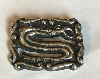 1920 Taxco Sterling Silver Serpent Brooch