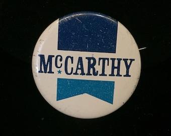1950's McCarthy Political Button