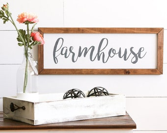 FARMHOUSE Style Rustic Wood Sign, Handmade, Inspirational Quote, Shabby Chic