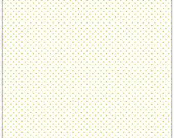 ON SALE Riley Blake Designs Swiss Dots Yellow on White