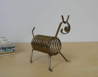Vintage Brass Toned Animal Spiral Letter Organizer
