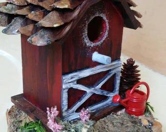 Barn Fairy House
