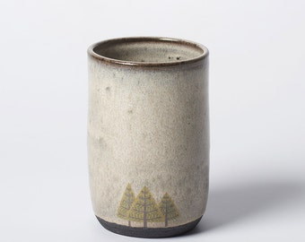 Tall Grey Pine Trees Cup