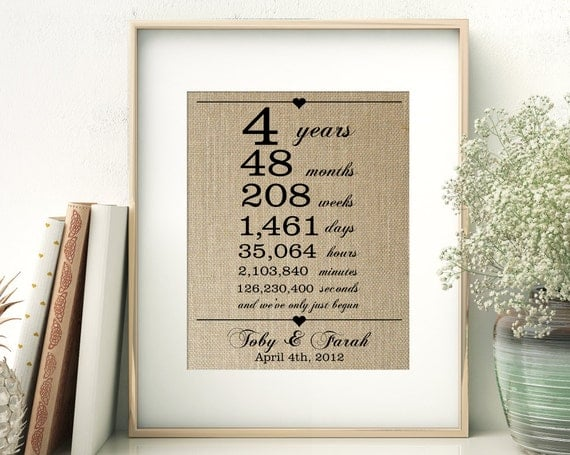 Wedding Gifts For 4 Years : Wedding Anniversary Gift for Wife Husband 4 Years Together Years ...