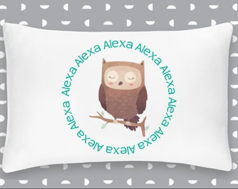 Personalized Owl Pillowcase Home Decor Bedding Bed Woodland Nursery
