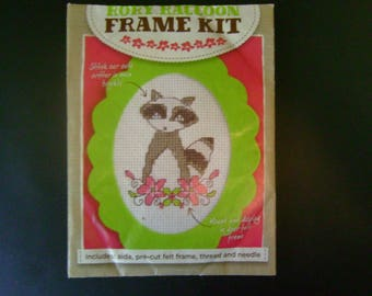Rory Raccoon Frame Kit  - Counted Cross Stitch - from Cross Stitcher Magazine