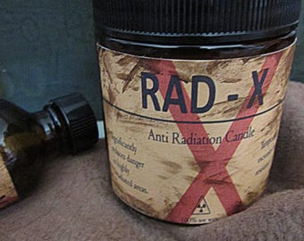 Rad X 4 oz soy Anti Radiation Candle - Fallout 3 - 4 - New Vegas