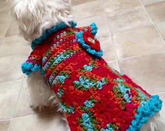Small Crochet Dog Dress Chihuahua Clothes  Yorkie Maltese Small Dog Fashion Apparel