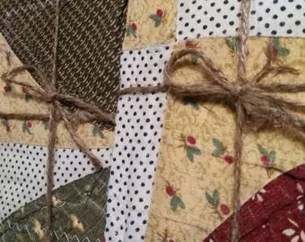Vintage Quilt Top Notecards Set of 2 FREE SHIPPING