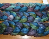 Polwarth Tussah Silk Spinning Fiber - 'Peaceful Waters'