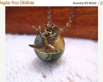 SALE Its A Small World Glass Globe Necklace