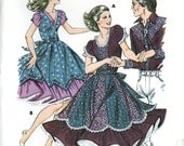 Kwik Sew 1160 Misses Square Dance Dress Eight Gore Tulip Sleeve Size 14 16 18 20 Uncut Vintage Sewing Pattern 1981