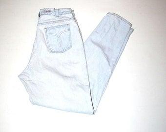 90s lightest wash mom jeans 1990s vintage distressed shredded pale denim jeans