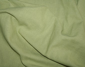 Special offer! Lime linen/cotton fabric 1.1 metre remnant piece