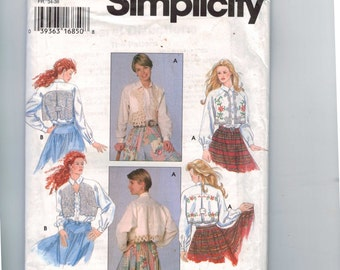 1990s Misses Sewing Pattern Simplicity 9653 Misses Blouse with Table Runner Lace Overlay Size 6 8 10 Bust 30 1/2 31 1/2 32 1/2 UNCUT 1995