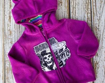 Misfits Skull Hoodie - baby - 6-9m