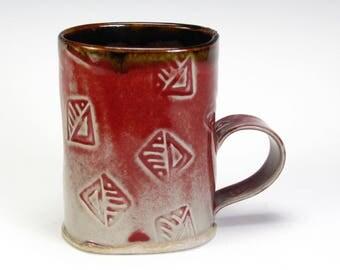 Copper Red Texture Mug