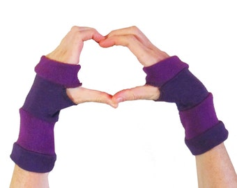 Striped Arm Warmers - Purple Haze