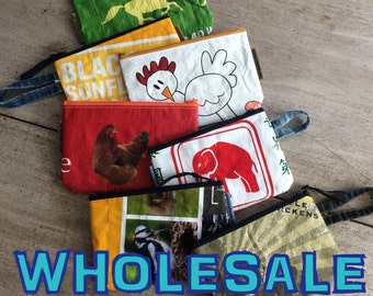 WHOLESALE Zippy Bags (12), recycled and handmade in Maine, USA