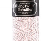 Metallic Rose Gold & White Divine Twine - Baker's Twine