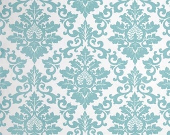 Cecilia Canal Twill - Blue - White  Premier Prints Fabrics 1/2 yard or more - Fabric by the 1/2 Yard