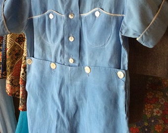 VINTAGE BOY OUTFIT, lil boy blue, mid century, baby, child, shorts, shirt, toddler