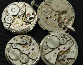 Steampunk Watch Movements Vintage Antique Round  Altered Art Assemblage RE 12