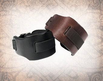 Classic Wide Leather Watch Cuff, Watch Strap, Watch Band, Black Watch Cuff, Men's Watch Cuff, Brown Watch Cuff (1 Watch Cuff Only)