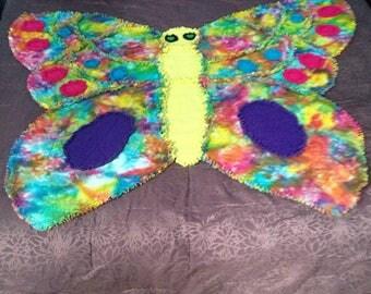 Tie Dye Butterfly Rag Quilt