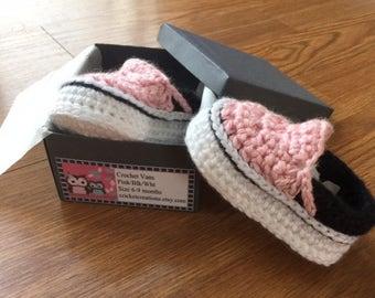 Custom Crochet Baby Vans sneaker Booties