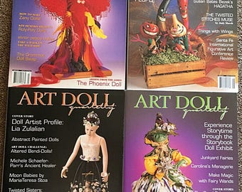 4 Rare Out-of-Print Issues of ART DOLL Quarterly Magazine // 2004  Winter - Autumn -Summer - Spring // Craft Supplies Doll Making Supply