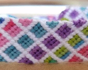 Wide Friendship Bracelet, adjustable bracelet, gift for friend, gift for teens