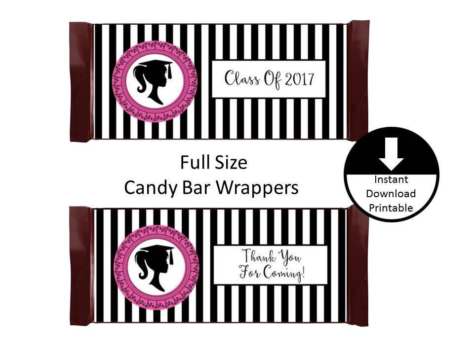 Girl graduation candy bar wrapper full size graduation party for Free printable graduation candy bar wrappers templates