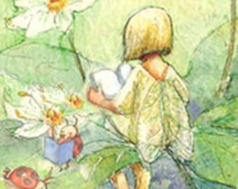Reading Fairy,    2 postcards