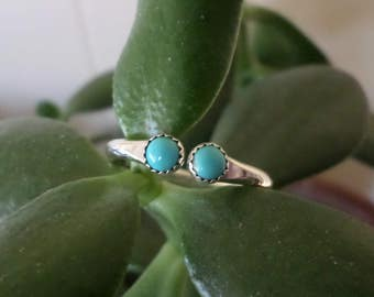 Turquoise and Silver Adjustable Band