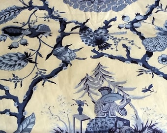 "6+ yards Chinoiserie ""Tea Garden"" fabric"
